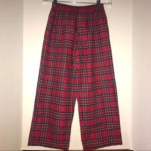 L. L. Bean lounge pants, red and multicolor plaid